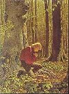 "Arnold Friberg ""Praying in the Grove"" print"